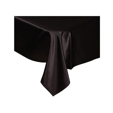 itálie černá - saténový ubrus